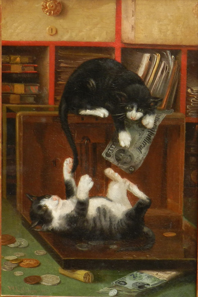 William Lees Judson - Cats at Play