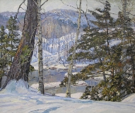 George Gardner Symons - River Banks with Snow