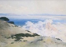 William Henry Holmes - Gathering Fog, Santa Catalina Island, CA