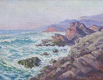 Walter B. Currier - Malibu Seascape