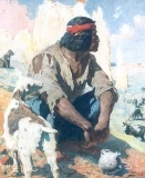 William R. Leigh - The Goat Herder
