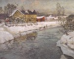 Frits Thaulow - Along the River