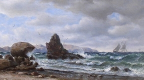 William Alexander Coulter - Sailing Off the Rocky Coast