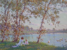 Edward Dufner - Afternoon at the Shore