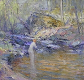 Emile Albert Gruppe - Nymph by the Stream