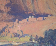 Carl Oscar Borg - Navajos at White House, Canyon de Chelly